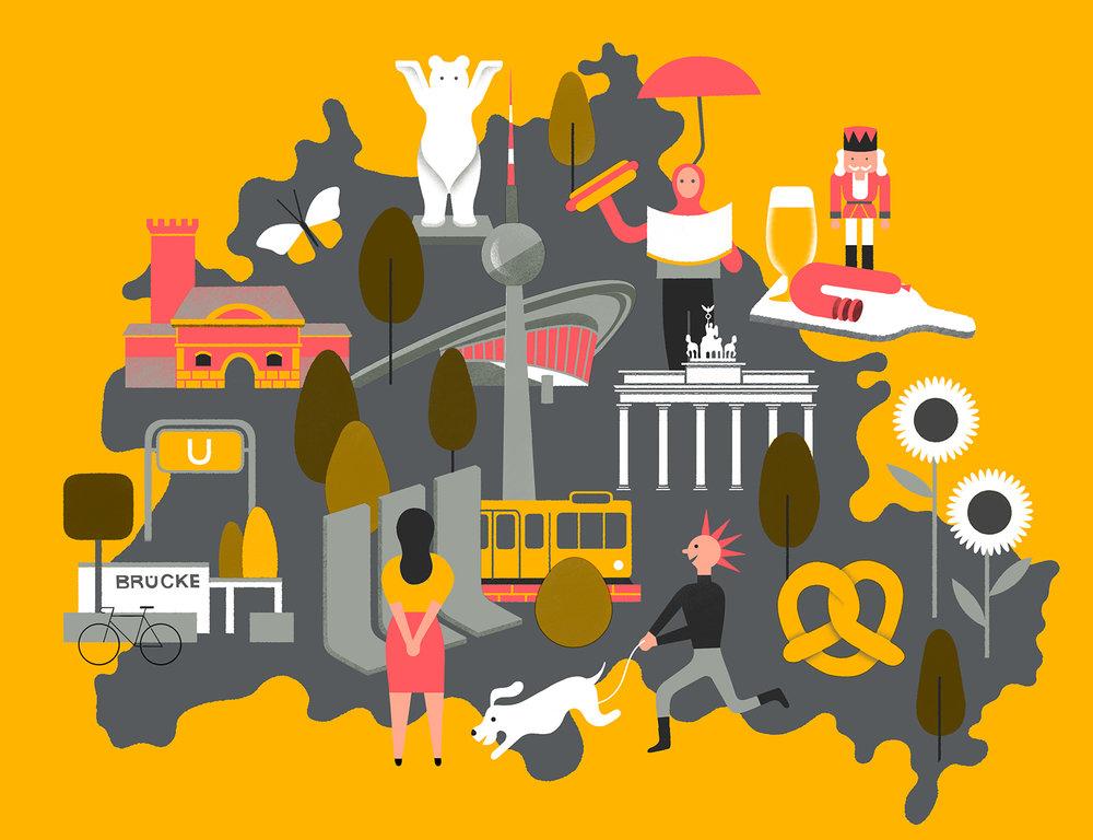 Berlin map for Airbnb Berlin mini website