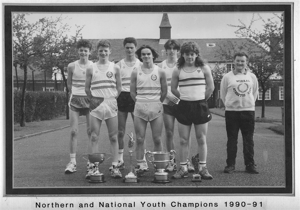 At the age of 16 I was in the team that won the Northern Cross-Country Championships and the Northern Road Relays.  The team also won the Nationals that year (I missed the Nationals through injury). I am on the back row, furthest right.