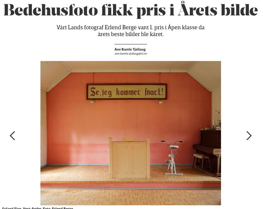 Vårt Land  Vårt Lands fotograf Erlend Berge vant 1. pris i Åpen klasse da årets beste bilder ble kåret.