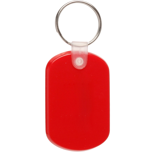 Tag Soft Plastic Key Chain