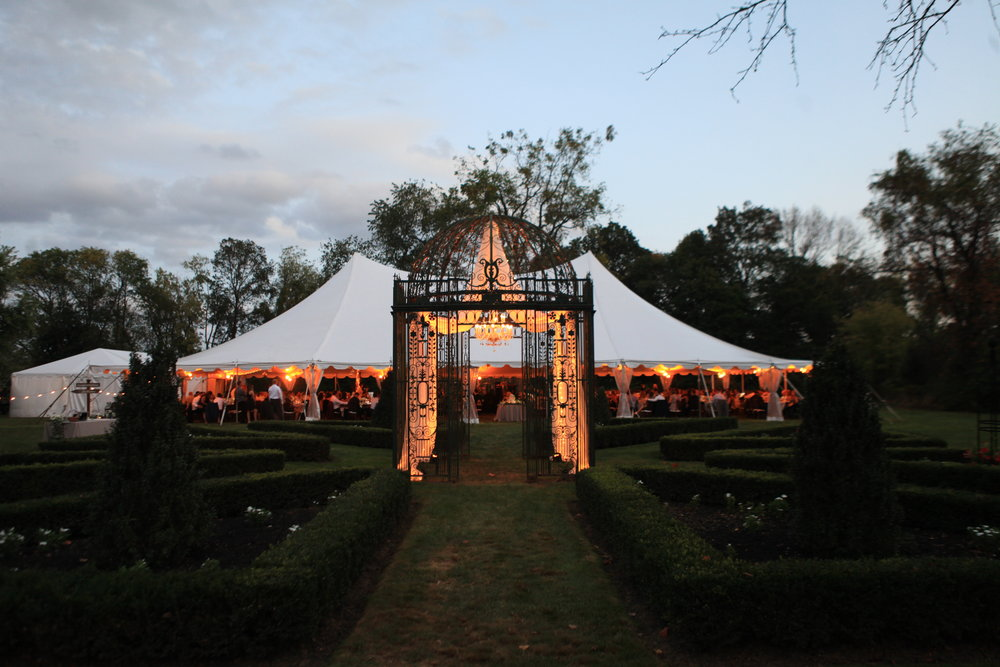 Copy of Gazebo and tent at dusk