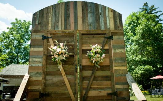 Ceremony Barn Doors