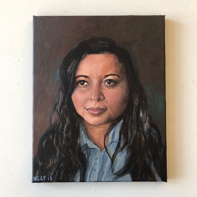 Nanda Acrylic on 24x30cm canvas • • • #painting #portraiture #portrait #portraitpainting #art #acrylic #acrylicportrait