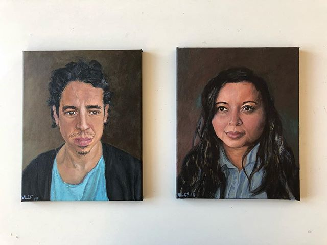 Gustavo and Nanda Acrylic on 24x30cm canvas • • • #painting #portraiture #portrait #portraitpainting #art #acrylic #acrylicportrait