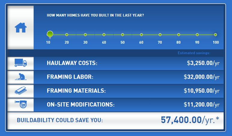 Build Smarter - Cost Savings Calculator — Component Building Systems ...