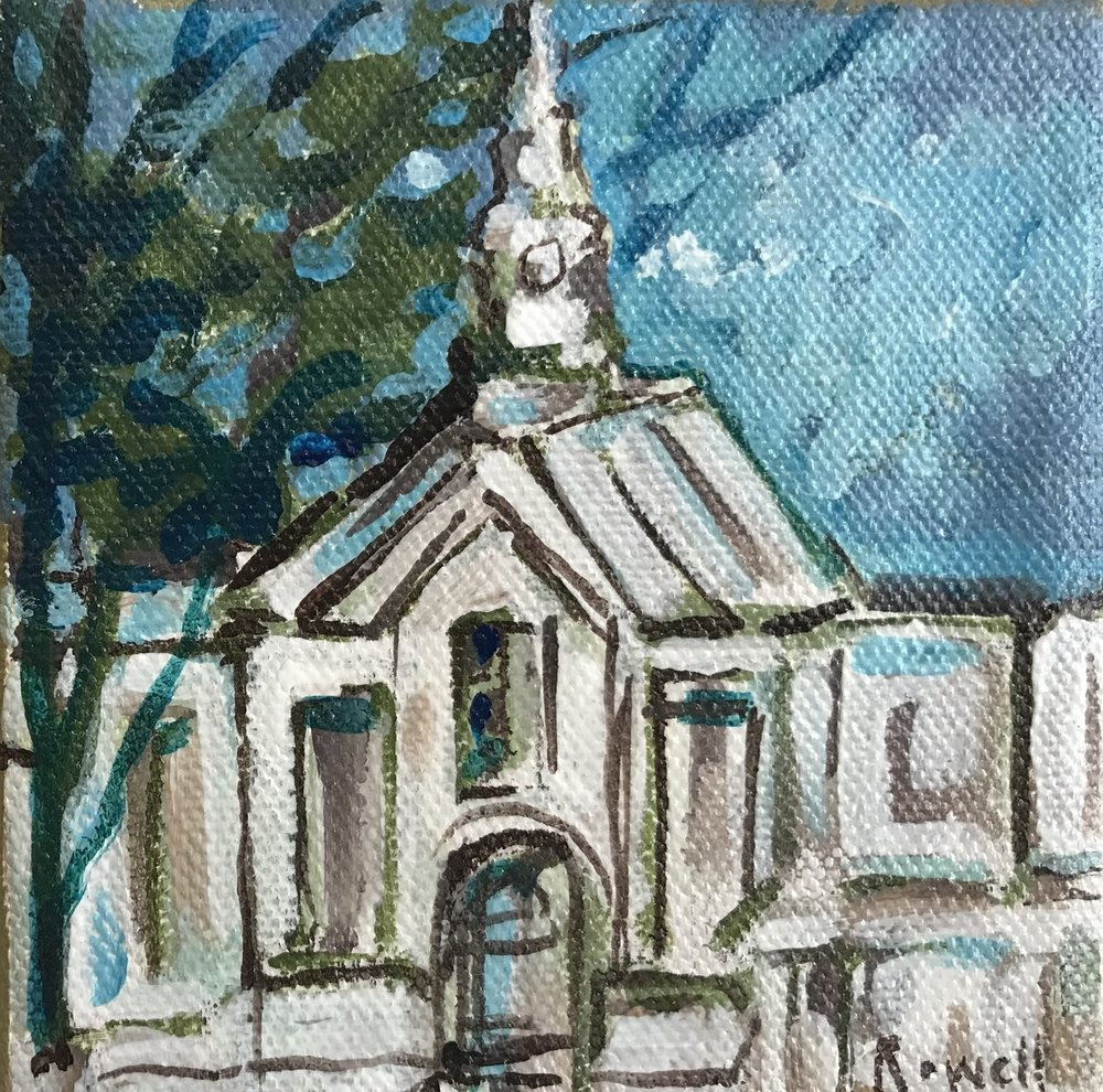 New England Church // 4x4 // $25