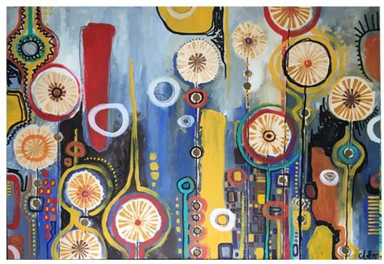 """J'aime encore Klimt, 2017 // 36""""x24"""" // SOLD"""