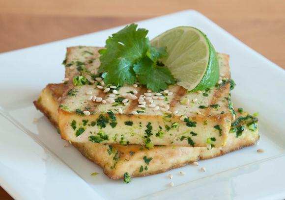 tofu cilantro ginger pesto