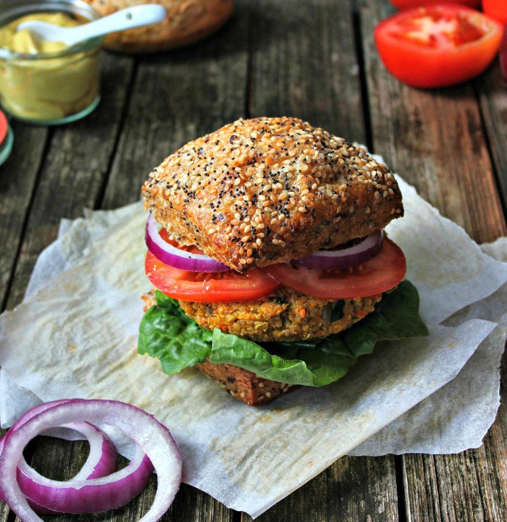 Garnet yam burger