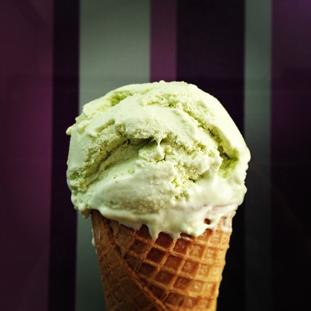 Avocado ice cream makes a great creamy ice cream texture.