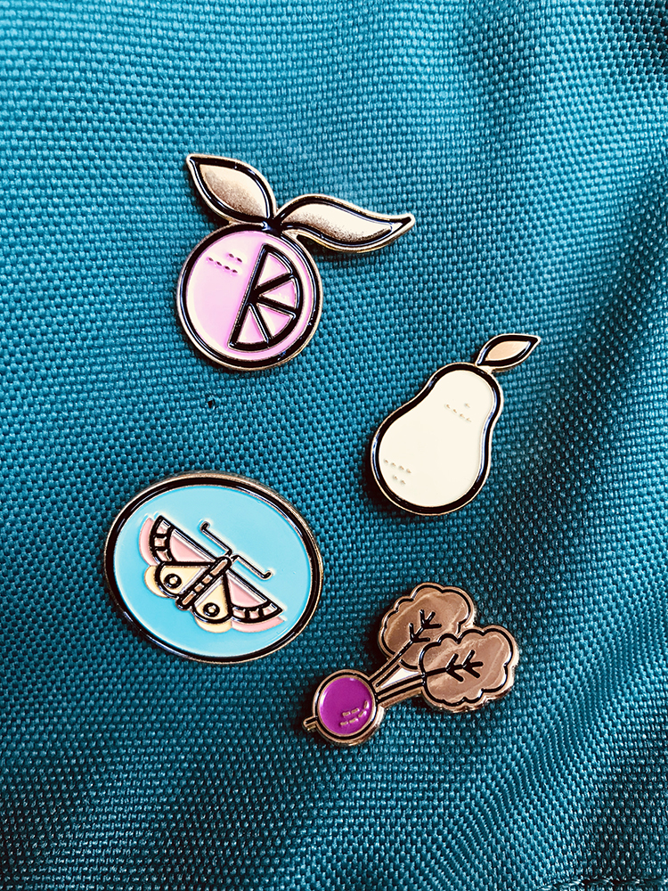 Mariposa Food Co-op Enamel Pins