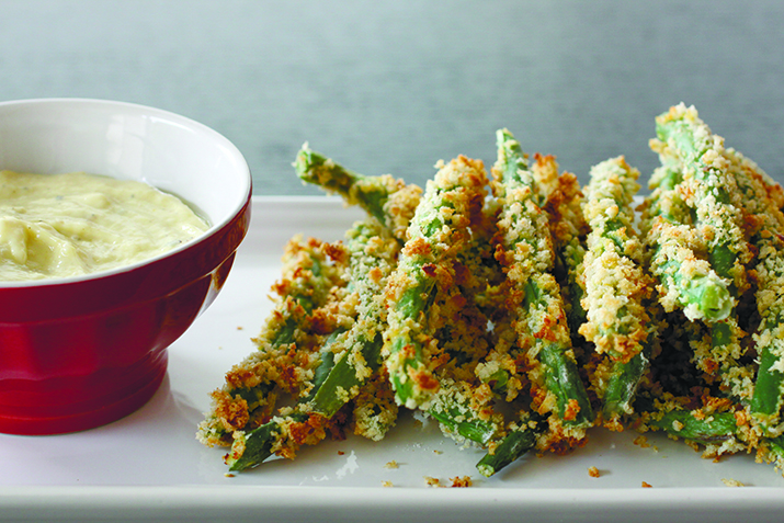 Parmesan-crusted green beans