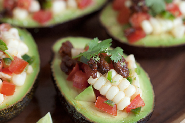 Chorizo and avocado salsa