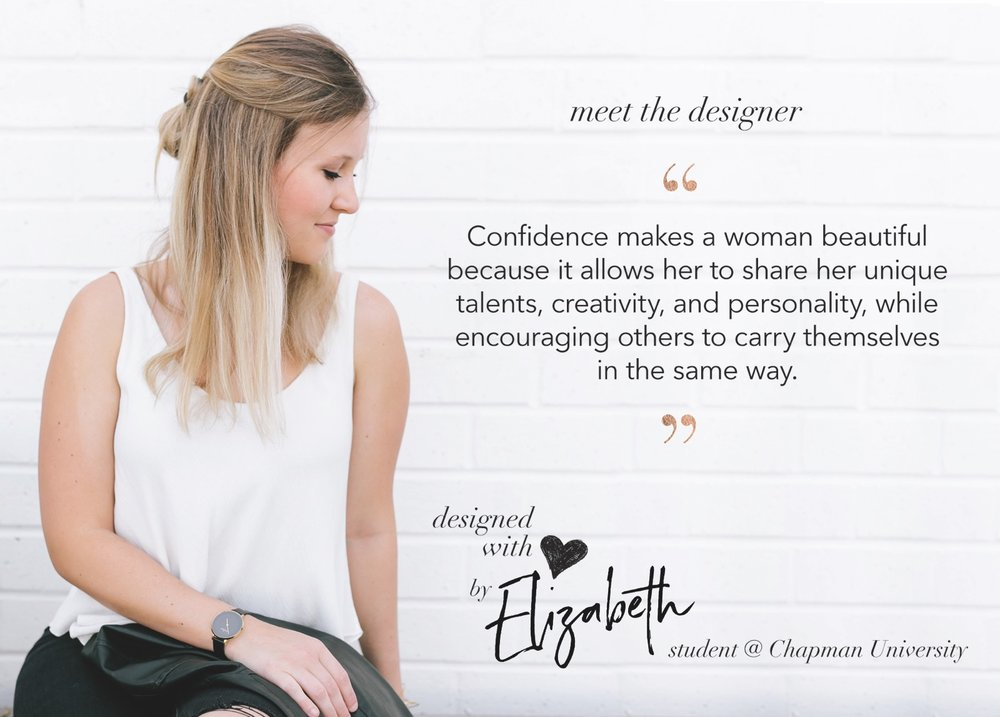 This is Elizabeth French, the designer behind MSC's Confidence is Beautiful design created for The Female Quotient!