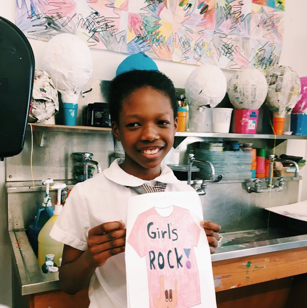 "Isabel's design: ""Girls Rock"""