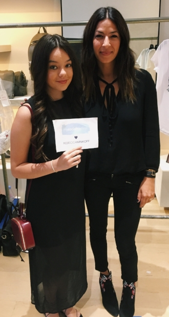 Rebecca and one of our Campus Reps, Madeline, at Fashion Week.