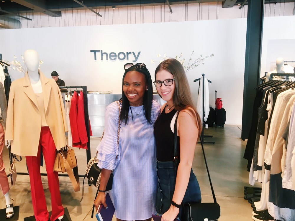 Brianna and Layne in the Theory store!
