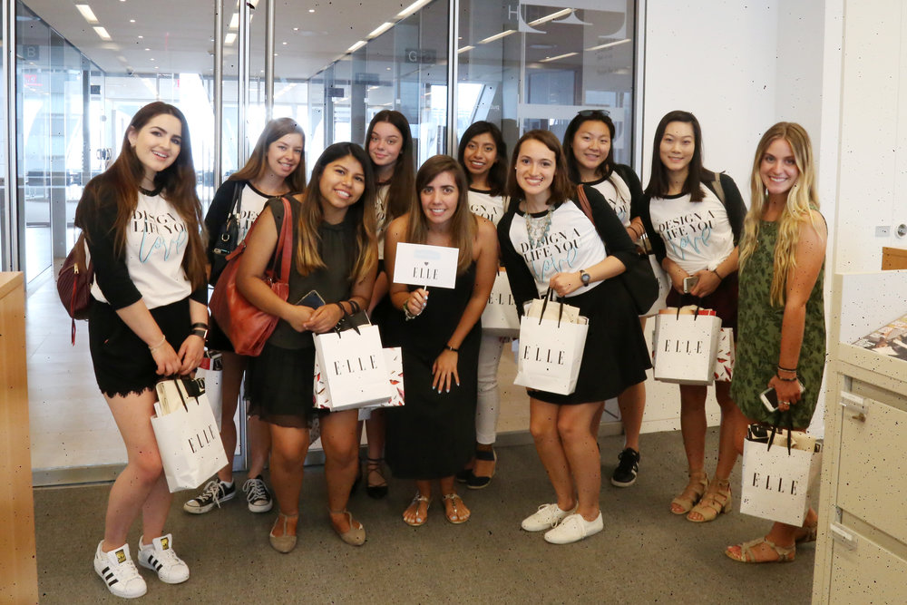 Michelle with a group of My Social Canvas campus reps at our 2016 Design the Life You Love Job Shadow Day. Michelle brought the girls to Elle for a tour and a Q&A on how to design the career they love!