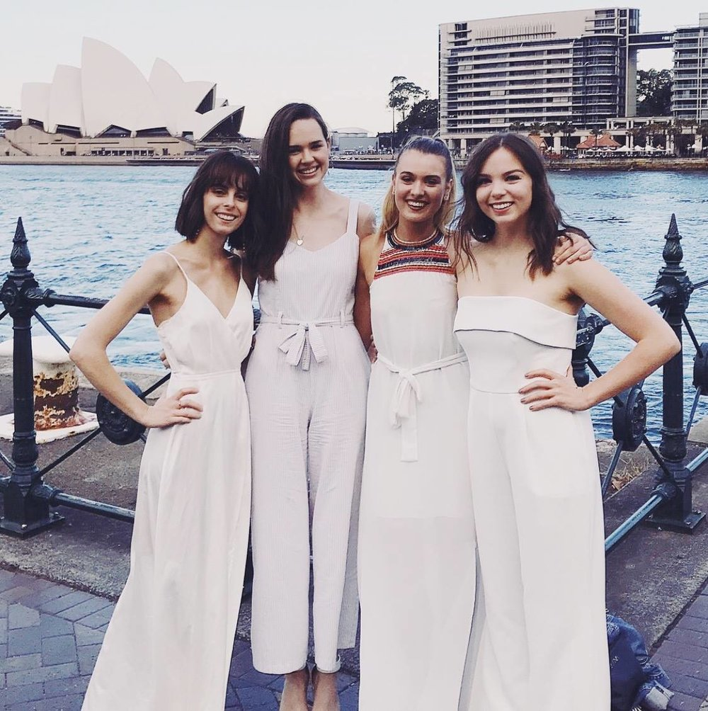 Laura (far left) Laura loved traveling to Sydney for college. Here she is pictured with her close friends, her girl gang from Hillsong Sisterhood in Sydney!