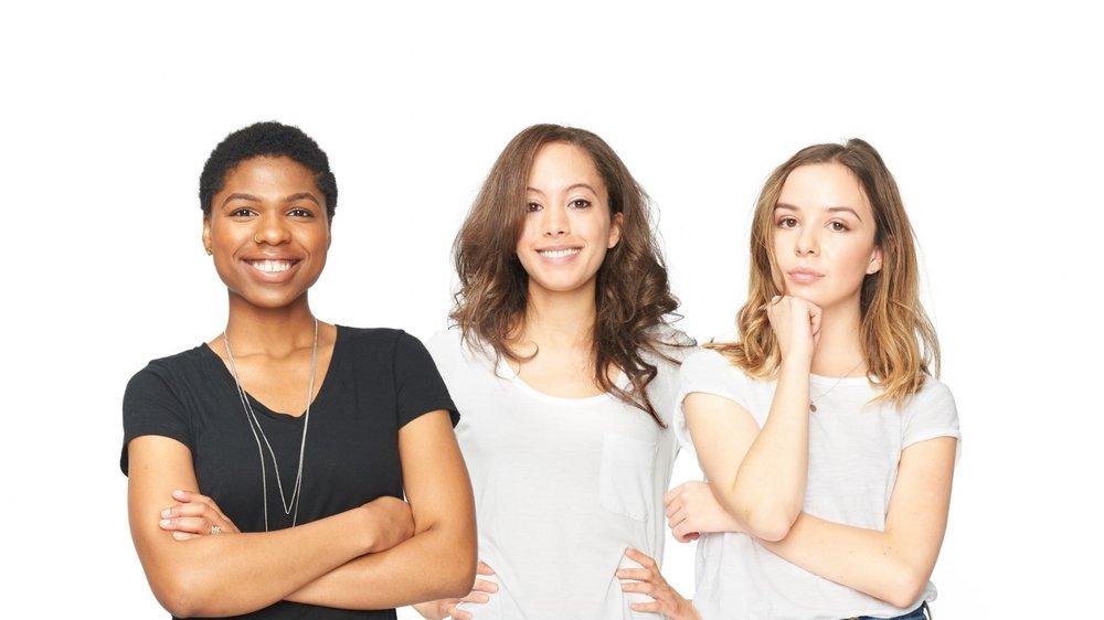 Left to right: Tatiana, Melanie, and Nadia