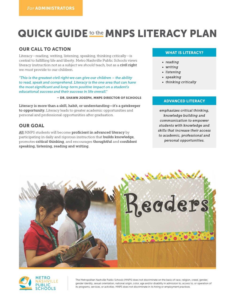 Do Children Have Right To Literacy >> Literacy Plan Metro Nashville Public Schools