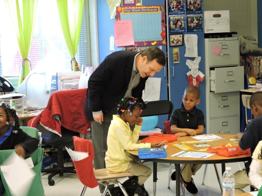 Ryan Gallagher of InfoWorks Volunteers in a Kindergarten Classroom