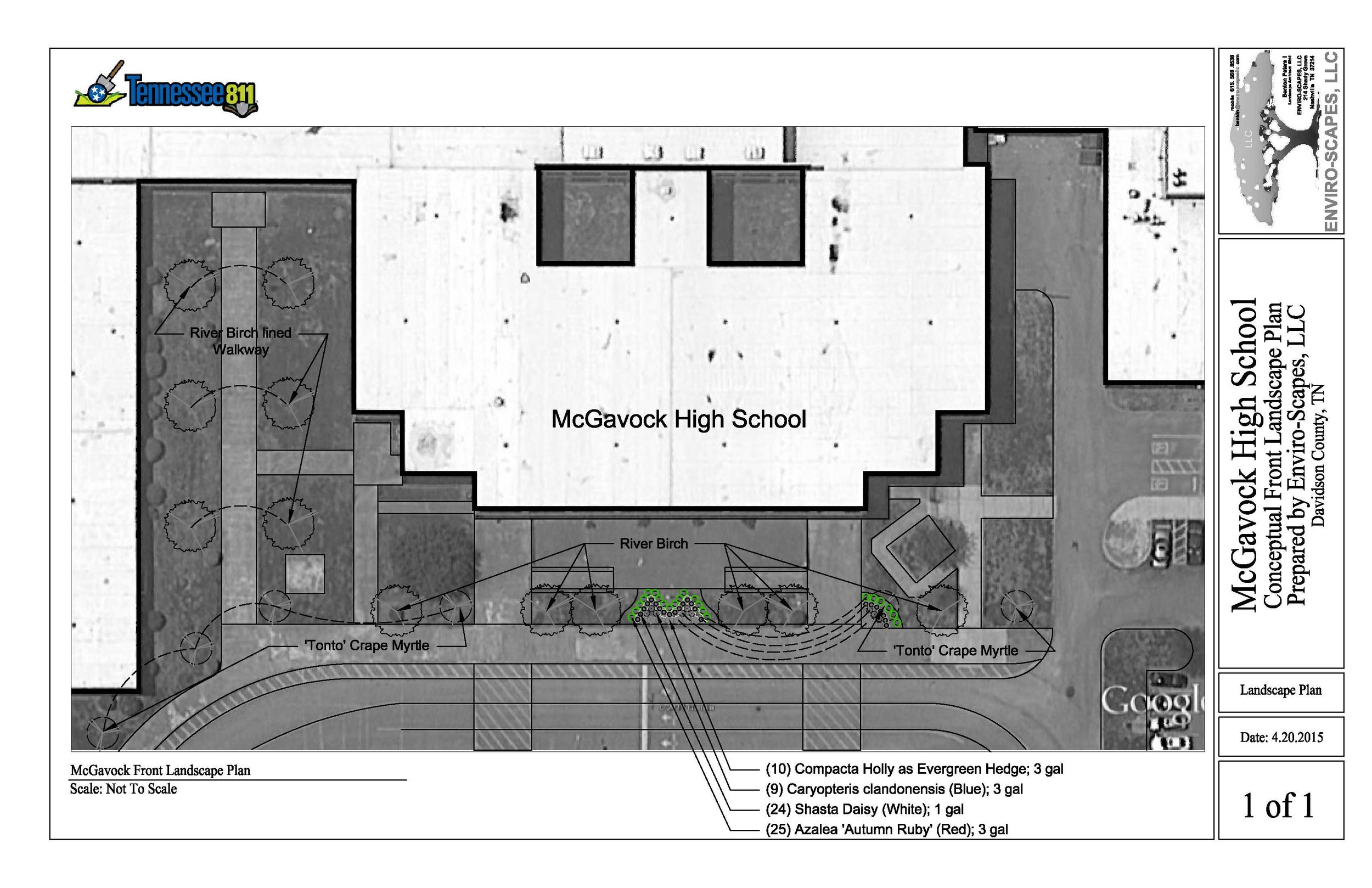McGavock High School Front Landscape Plan 4.20.2015