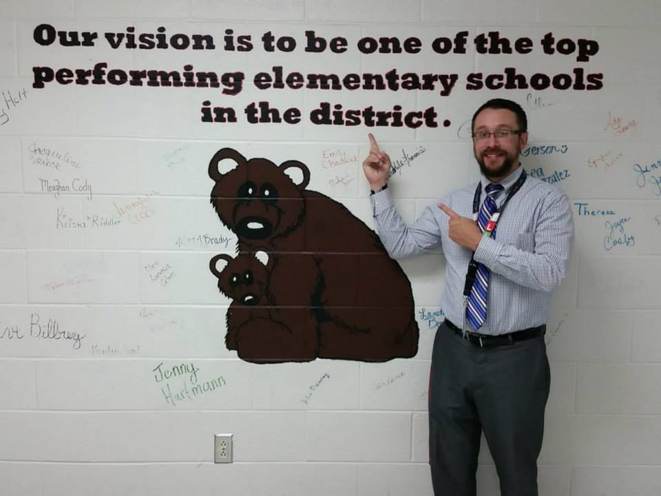Fall-Hamilton Elementary principal Mathew Portell is serious about making his school great - and parents will play a huge part!