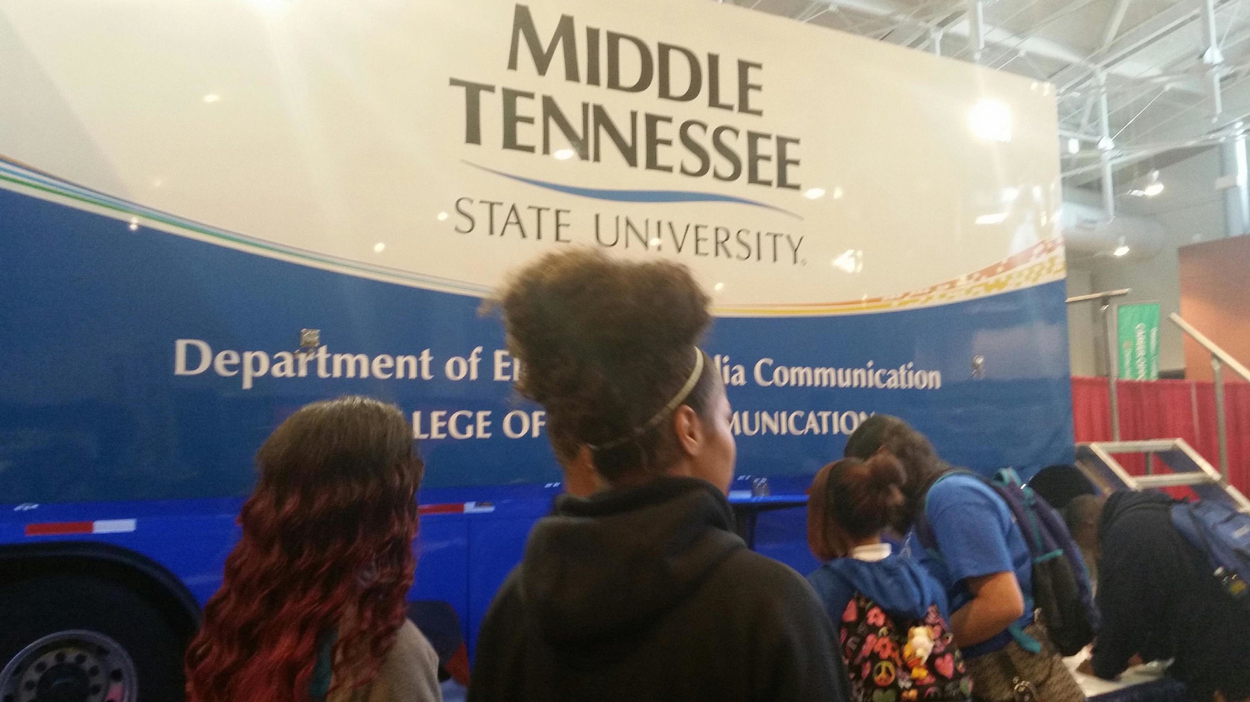 Middle Tennessee State University brought a mobile production lab for students to learn about television production careers.