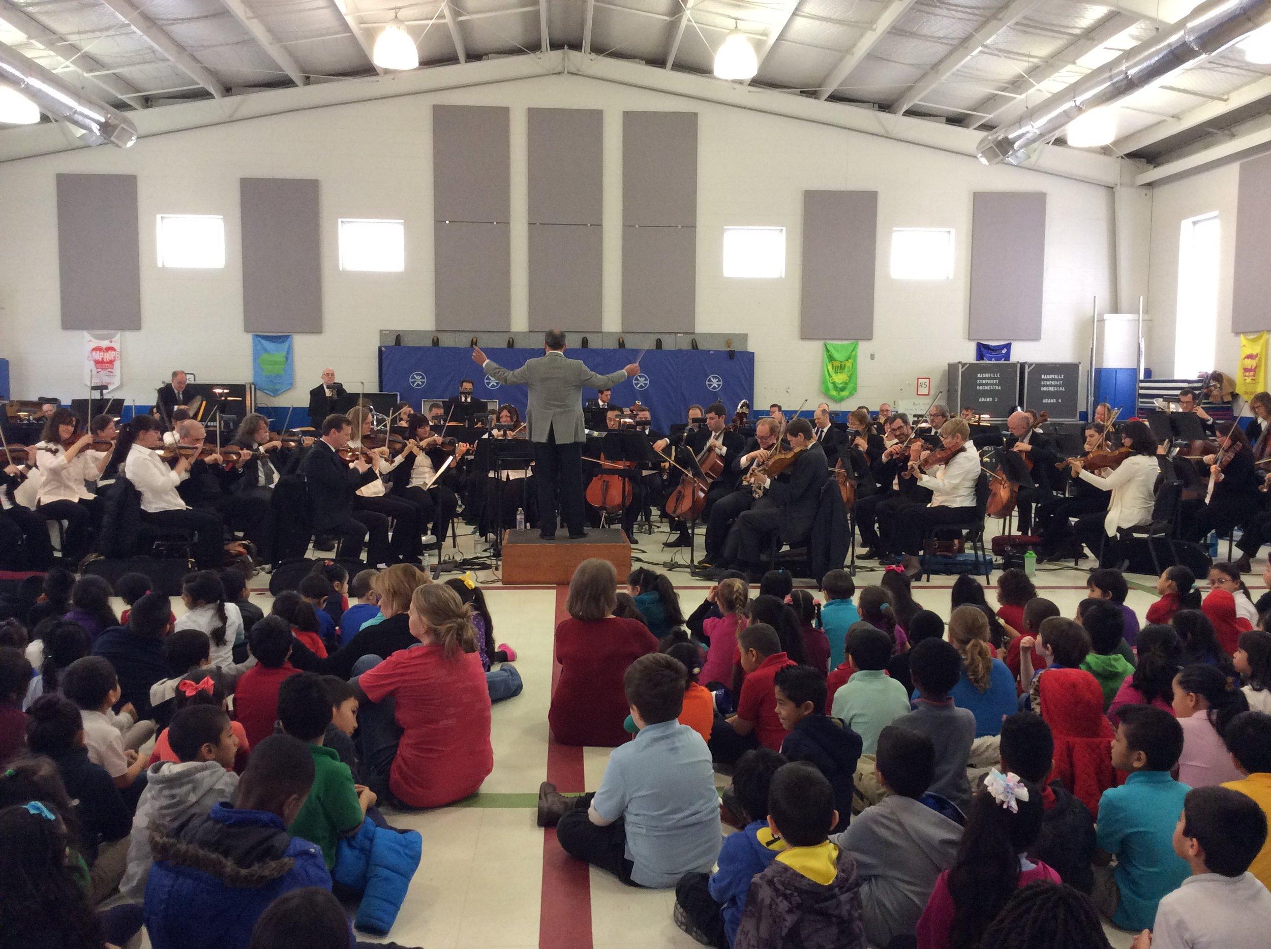 Nashville Symphony Orchestra at JE Moss Elementary February 2016