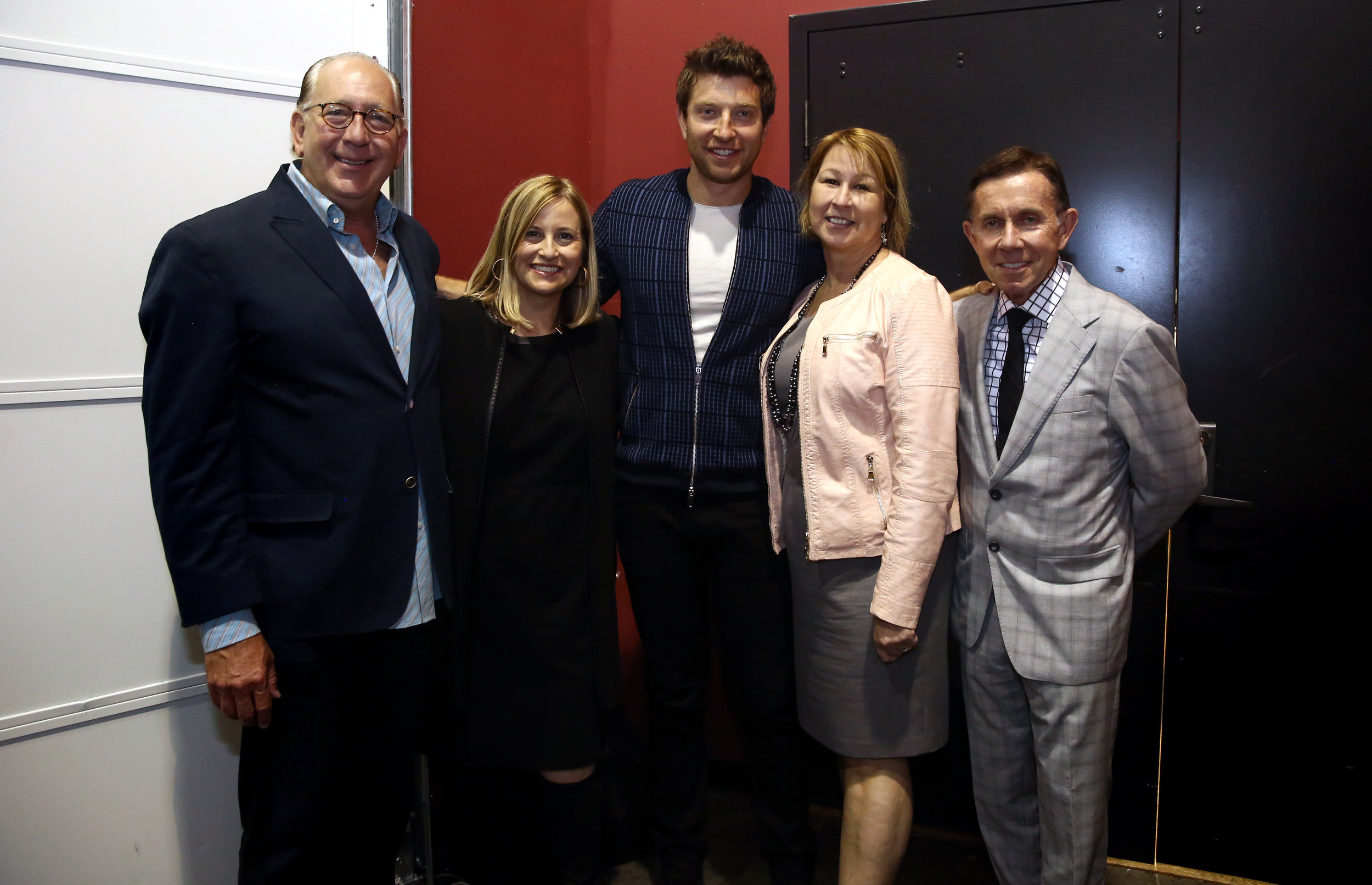 John Esposito, President/CEO, Warner Music Nashville and CMA Board Chairman; Nashville Mayor Megan Barry; Brett Eldredge; Sarah Trahern, CMA Chief Executive Officer; Joe Galante, CMA Foundation Board Chairman. Photo Credit: Kayla Schoen / CMA