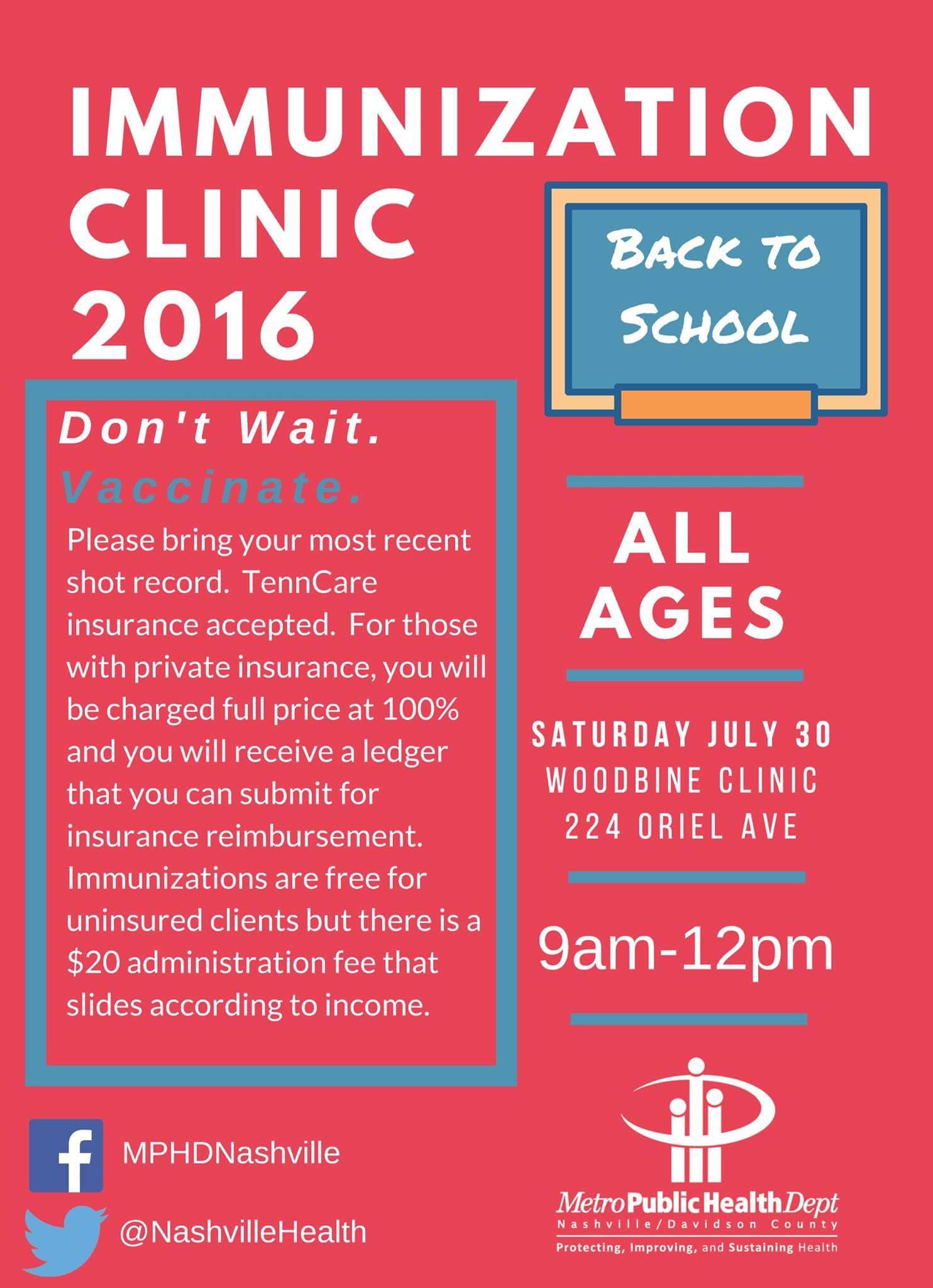 Immunizations Clinic English