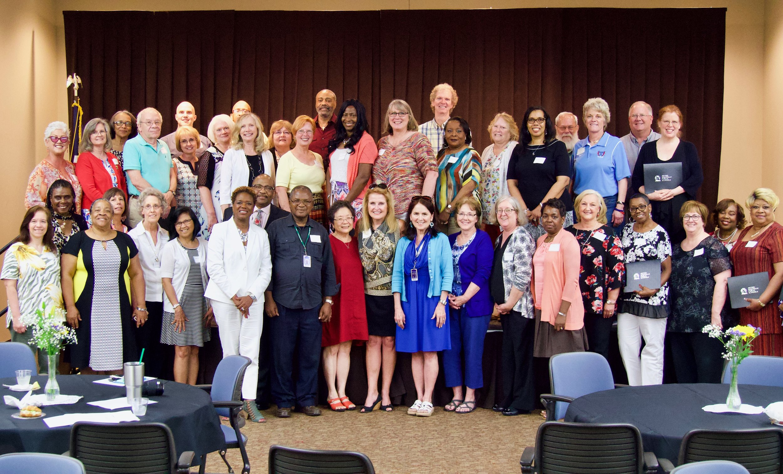 Metro Schools celebrates new class of retirees
