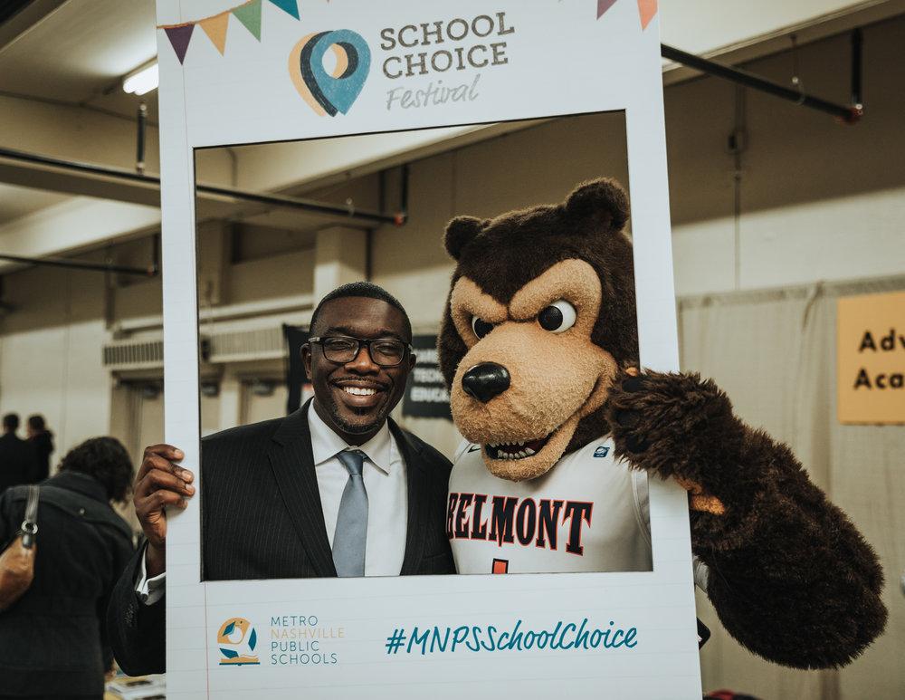 Dr. Joseph and Belmont Mascot