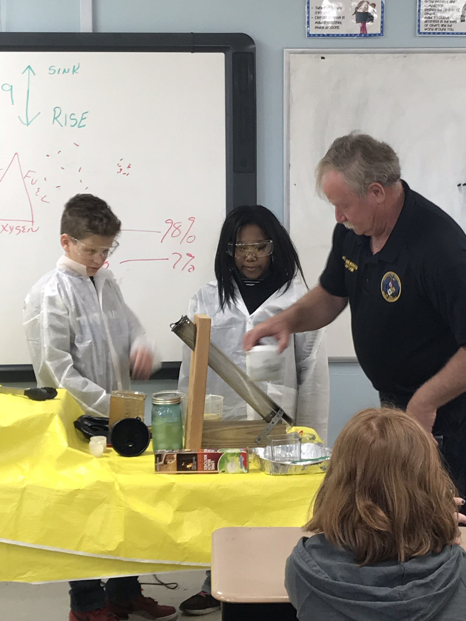 Fire Department Leads Students Through Real-World Science Experiments