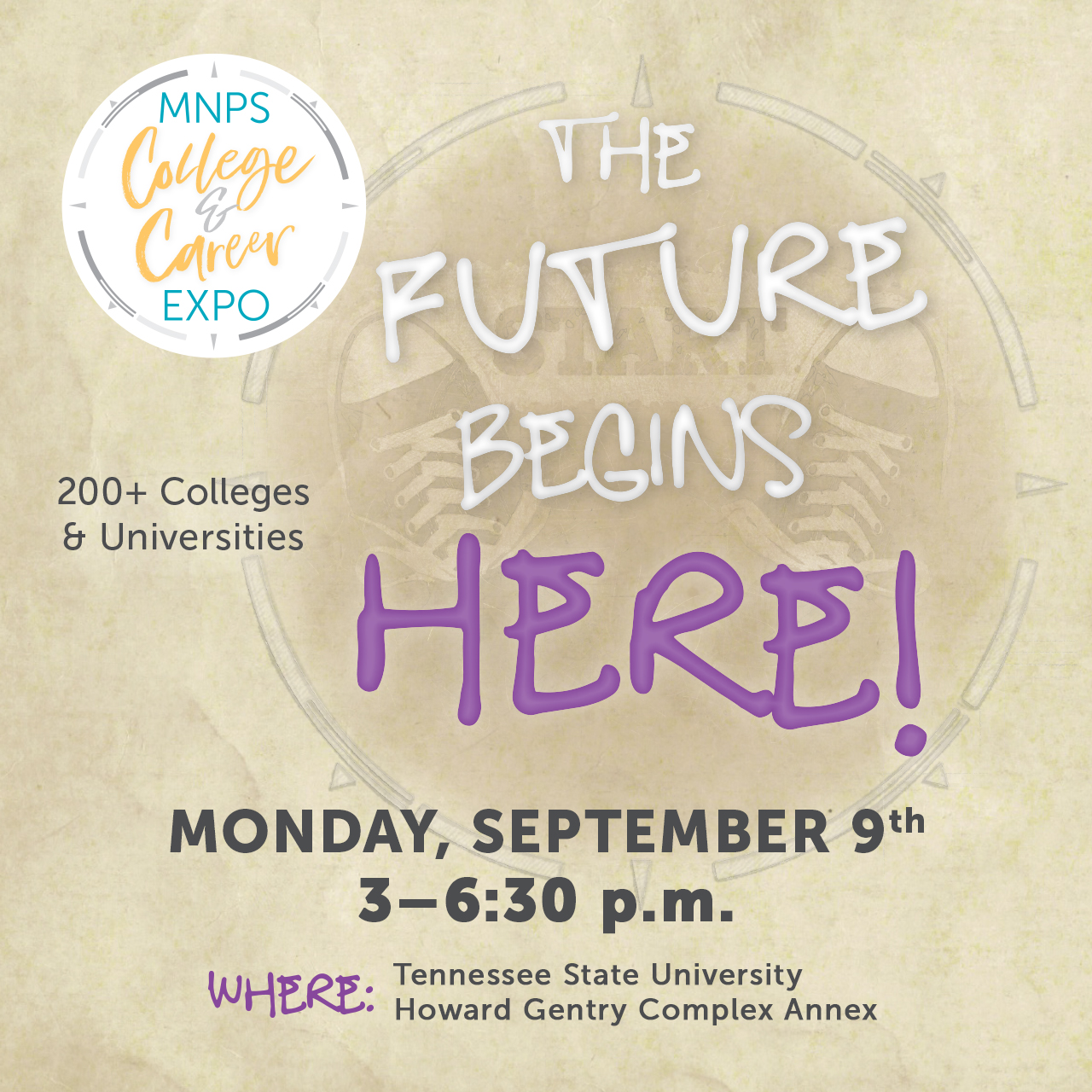 Save the Date for the College and Career Expo Sept. 9!