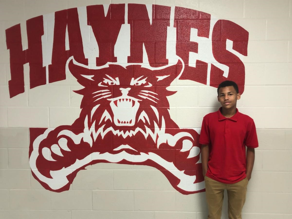 This week's MNPS MVP Xavier Dangerfield – Haynes Middle School