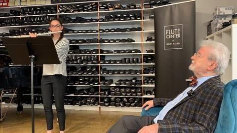 John Overton High School Senior Plays Flute with Renowned International Flutist