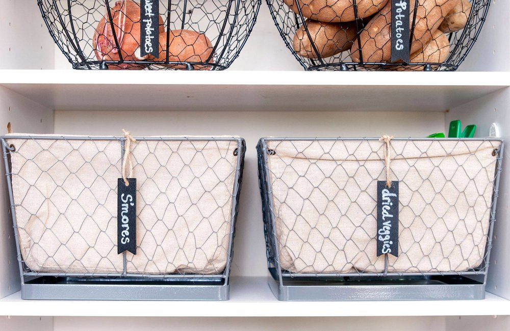 Try labeling a basket or bin for easy identification!