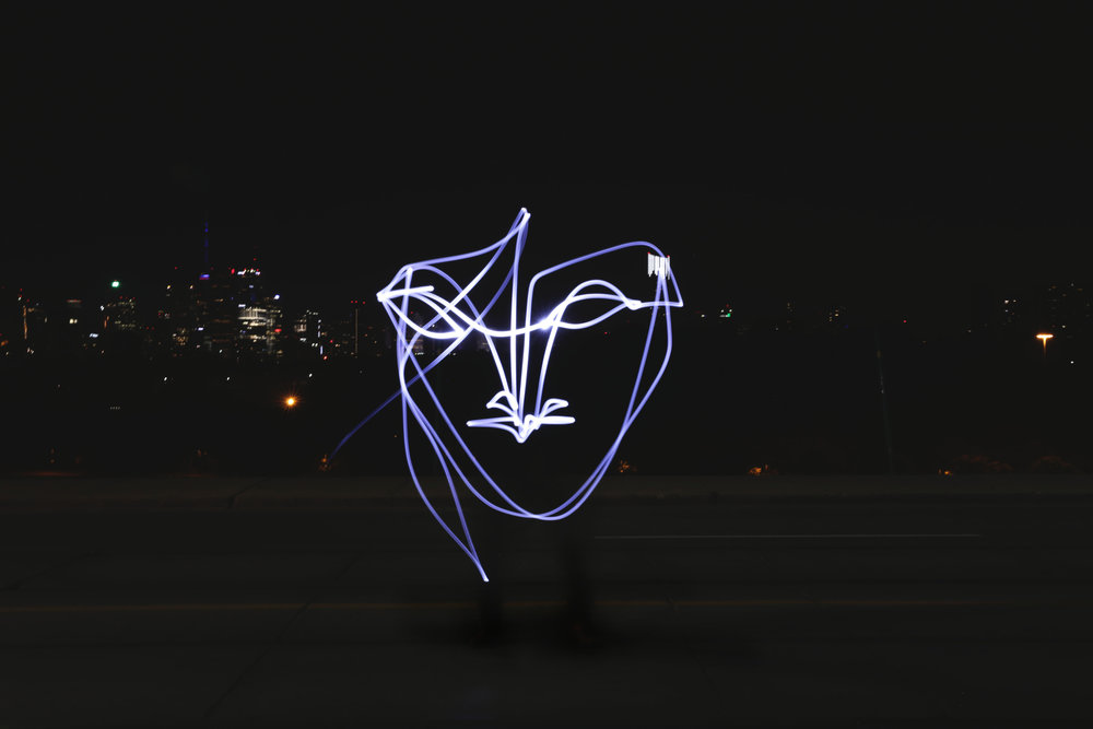 Light Drawing captured by Soteeoh