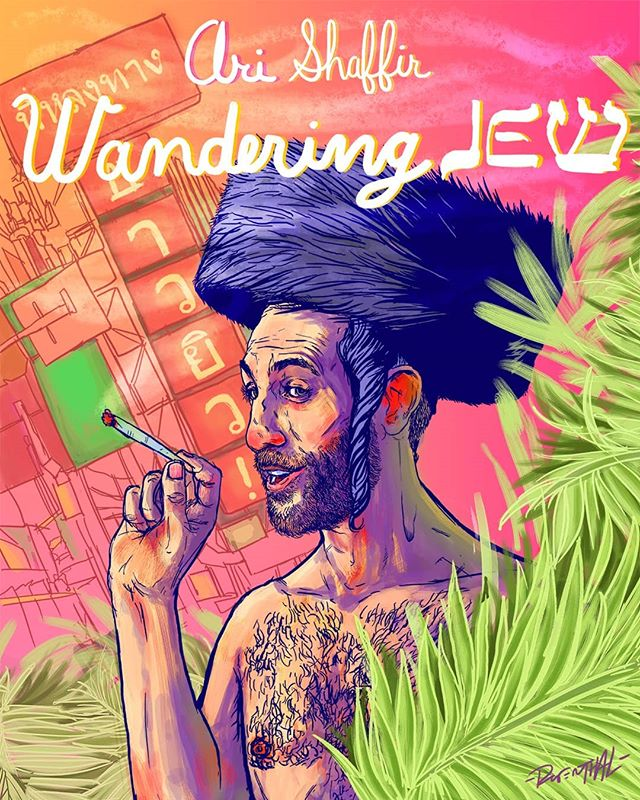 The Wandering Jew. A poster for @arishaffir new hour? Or tour? Idk. Anyway I'm a huge fan of this guy's comedy and podcast (skeptic tank). If you get chance check him out. • • • • • • • • • • • #art #artist #comedy #comedians #comedian #illustrator #poster #travel #jewish #illustrate #sketch #drawing #inspired #passion #life #color #painting #digitalart #photoshop @thecomedystore @thestandnyc