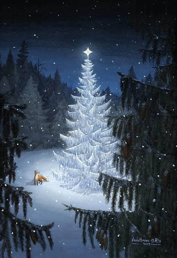 """""""Star in the Forest"""" - Acrylic on illustration board"""