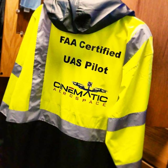 When you pack for a weekend shoot, can't forget that crew jacket... 🚁🎥🎬