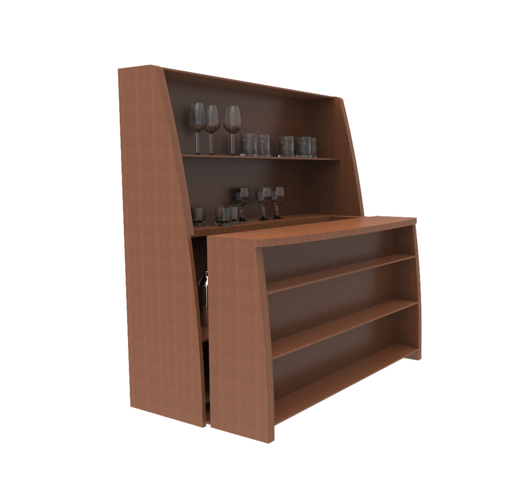 hidden bar furniture. the hidden motorized bar- turn your front room into a bar in snap! furniture c
