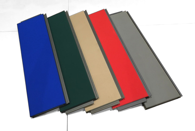 Navy Blue, Forest Green, Desert Sand, Blood Red, Steel Grey