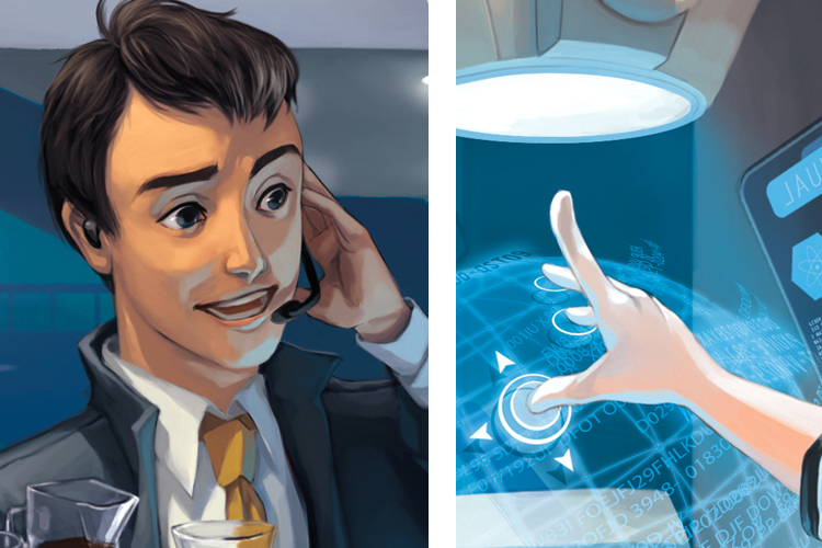 """Interns"" Card Image for NetRunner Fantasy Flight Games"