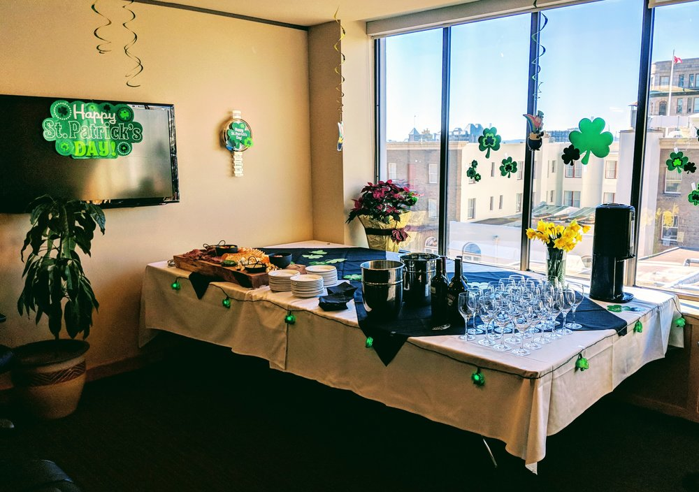 The McBOP Boardroom, pre-St. Patrick's Day party
