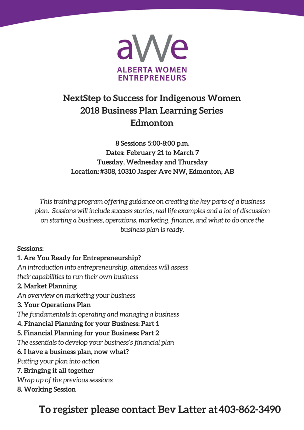 NextStep to Success for Indigenous Women2018 Business Plan Learning SeriesCalgary (1).png