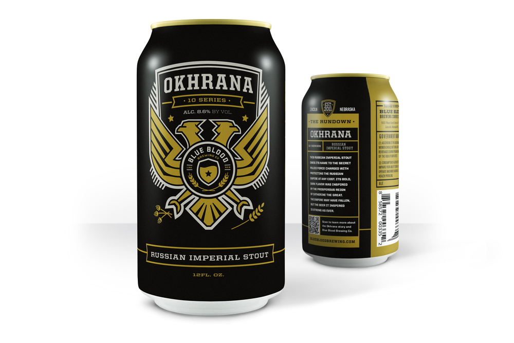OKHRANA IMPERIAL STOUT ABV: 9.5%      IBU: 80 This Russian Imperial Stout owes its name to the secret police force charged with protecting the Russian Empire at any cost. Its bold, dark flavor was inspired by the prosperous reign of Catherine the Great. The Empire may have fallen, but the beer it inspired is strong as ever.