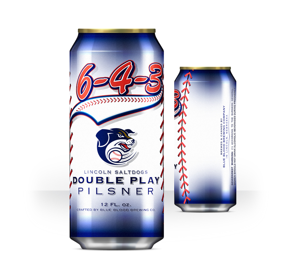 6-4-3 DOUBLE PLAY PILSNER   ABV: 5.2% IBU: 20 AVAILABLE JUNE THRU AUGUST  Play Ball!! Brewed for our local boys of summer, the Lincoln SaltDog's, this beer is meant to keep you cool during the dog days of summer while enjoying your favorite team flip the most popular double play in baseball.